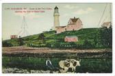 Cape Elizabeth, Maine Postcard:  Two Lights Lighthouse