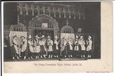Joliet, Illinois Postcard:  School Play at Stage-Township High School