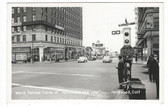 Hollywood, California Real Photo Postcard: Corner of Hollywood & Vine