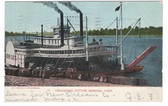 Memphis, Tennessee Postcard:  Steamboat Unloading Cotton
