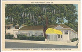 Daytona Beach, Florida Linen Postcard:  Johnston's Coffee Shop
