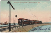 Winthrop Beach, Massachusetts Postcard:  Narrow Gauge Train