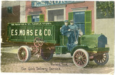 Charlestown, Massachusetts Postcard:  Morse Co. Packard Delivery Truck