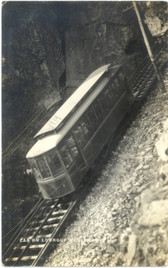Chattanooga, Tennessee Real Photo Postcard:  Lookout Mountain Trolley