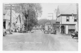Blue Hill, Maine Real Photo Postcard:  Village View