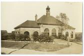 Rock Island, Illinois Real Photo Postcard:  Railroad Station