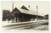 Arlington, Vermont Real Photo Postcard:  Railroad Station