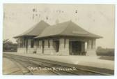 Mount Vernon, Ohio Real Photo Postcard:  Railroad Station