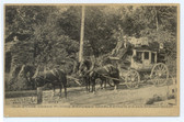 Charlestown, New Hampshire Postcard:  Charlestown & Springfield Stage Coach