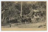 Charlestown, New Hampshire Postcard:  Charlestown & Springfield Stage Coach
