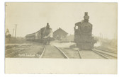 Ayer's Junction, Maine Real Photo Postcard:  Train Station