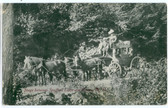 Keene, New Hampshire Postcard:  Stage Coach Between Spofford Lake and Keene