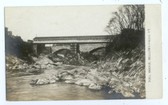 Bellows Falls, Vermont Real Photo Postcard:  Toll Covered Bridge