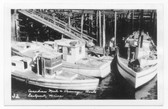 Eastport, Maine Real Photo Postcard:  Canadian Mail & Passenger Boats