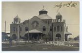 San Antonio, Texas Real Photo Postcard:  Railroad Station