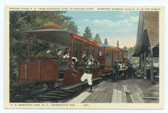 Adirondack Mountains, New York Postcard:  Marion River Railroad from Raquette Lake to Marion River