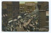 Bridgeport, Connecticut Postcard:  Busy Downtown