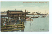 Bridgeport, Connecticut Postcard:  Mohawk Yacht Club & Harbor