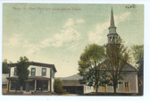 Albany, Vermont Postcard:  Post Office & Congregational Church