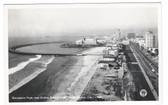 Long Beach, California Real Photo Postcard:  Rainbow Pier and Ocean Boulevard