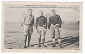 Chillicothe, Ohio Postcard:  3 All-American Captain Football Players at Camp Sherman
