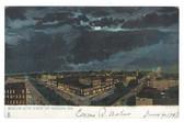 Macon, Georgia Postcard:  Nighttime Bird's-Eye View