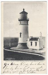 Long Beach, Washington Postcard:  North Head Lighthouse
