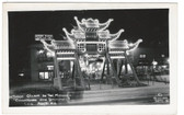 Los Angeles, California Real Photo Postcard:  Chinatown on Broadway