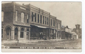 Pilger, Nebraska Real Photo Postcard:  East Side of Maine Street