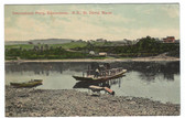 St. David, Maine Postcard:  International Ferry at Border with Edmundson, New Brunswick