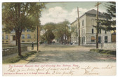 Melrose, Massachusetts Postcard:  The Colonial, Masonic Hall, & Wyoming Avenue