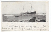 "Block Island, Rhode Island Postcard:  1905 ""Spartan"" Shipwreck"