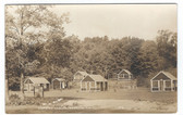 Andover, New Hampshire Real Photo Postcard:  Hopkins Cabins