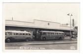 Chehalis, Washington Real Photo Postcard:  Bus Depot