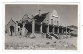 Rhyolite, Nevada Real Photo Postcard:  The Old Railroad Station