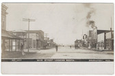 Bridgeport, Nebraska Real Photo Postcard:  Main Street Looking South