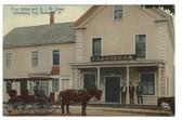 Gilmanton Iron Works, New Hampshire Postcard:  Post Office & Stage
