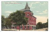 Newtonville, Massachusetts Postcard:  Masonic Building