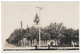 Larned, Kansas Real Photo Postcard:  Court House and Jail