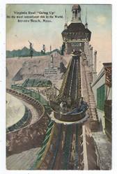 Revere Beach, Massachusetts Postcard:  Virginia Reel Going Up