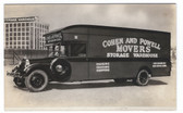 New Haven, Connecticut Real Photo Postcard:  Cohen & Powell Moving Van
