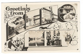 Reno, Nevada Real Photo Postcard:  Large Letter Multiview