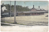 Claremont, New Hampshire Postcard:  B. & M. Train Station