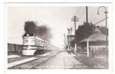 Tomah, Wisconsin Real Photo Postcard:  Hiawatha Train & Depot
