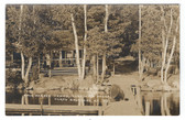 North Belgrade, Maine Real Photo Postcard:  Snug Harbor Camps
