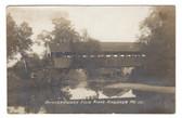 Andover, Maine Real Photo Postcard:  Brickett Covered Bridge