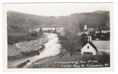 Cavendish, Vermont Real Photo Postcard:  1927 Flood Damage