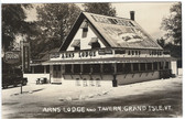 Grand Isle, Vermont Real Photo Postcard:  Arns Lodge & Tavern