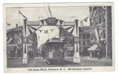 Newport, Rhode Island Postcard:  Old Home Week & Trolley