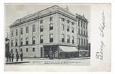 Salamanca, New York Postcard:  Masonic & IOOF Temples